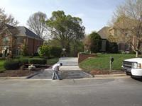 Driveway Tear Out and Replace With Stamped Apron