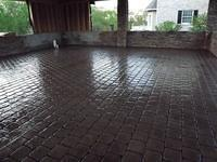 Stamped Cobblestone Outdoor Living Area