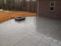 Stamped Patio and Fire Pit with Natural Gas